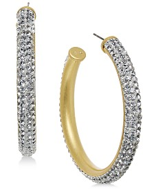 kate spade new york Crystal Hoop Earrings