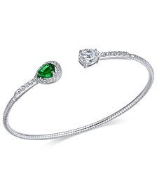 Danori Silver-Tone Crystal Cuff Bracelet, Created for Macy's
