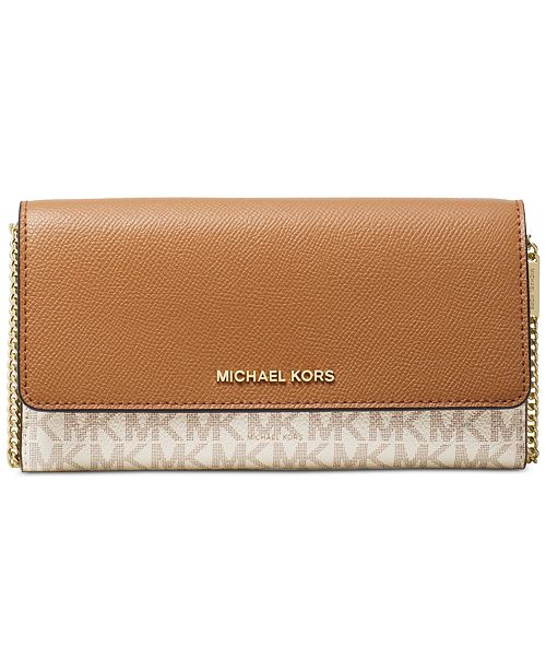 e9a09f174455 Michael Kors Signature Multi Function Wallet On A Chain & Reviews ...