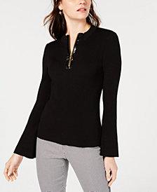 I.N.C. Patent Zipper Sweater, Created for Macy's