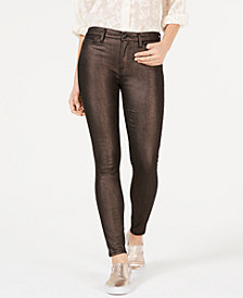 7 For All Mankind Metallic Skinny Jeans