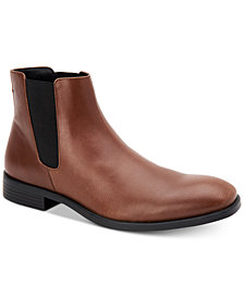 Calvin Klein Men's Corin Leather Chelsea Boots