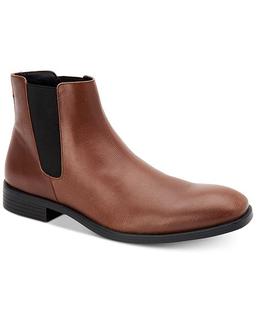 Calvin Klein Men's Corin Leather Chelsea Boots