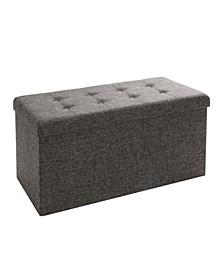 Foldable Storage Bench Ottoman