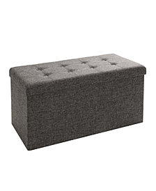Foldable Storage Bench Ottoman
