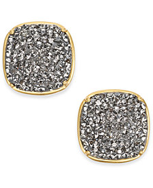 kate spade new york Gold-Tone Pavé Square Stud Earrings