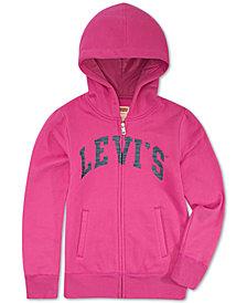 Levi's® Little Girls Full-Zip Logo Hoodie