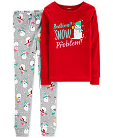 Carter's Little & Big Girls 2-Pc. Snow Problem Cotton Pajama Set