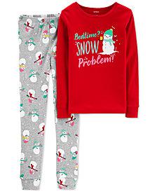 Carter's Little & Big Girls 2-Pc. Snow Problem Cotton Pajama Set