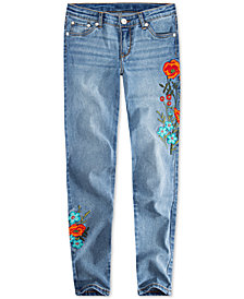Levi's® Big Girls 710 Super Skinny Floral Patch Jeans