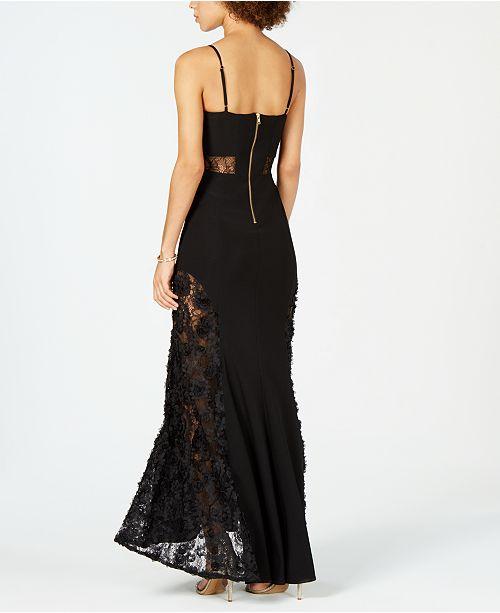 c9d8d47d68dc Betsy & Adam Lace-Inset Soutache Gown & Reviews - Dresses - Women ...