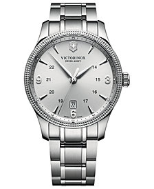 Victorinox Swiss Army Men's Swiss Alliance Stainless Steel Bracelet Watch 40mm