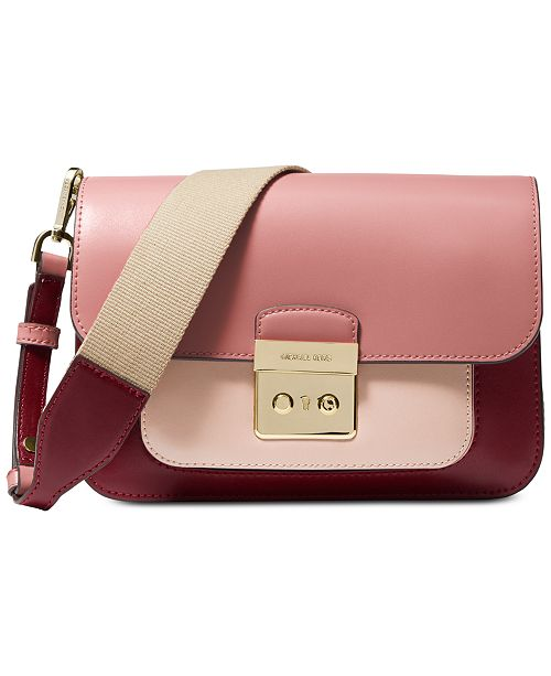 bbb0767cf653 Michael Kors Sloan Editor Colorblock Leather Shoulder Bag & Reviews