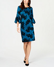 Jessica Howard Bell-Sleeve Shift Dress