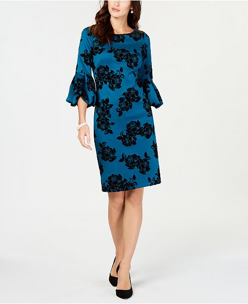de91ddd35f8c4 Jessica Howard Bell-Sleeve Shift Dress   Reviews - Dresses ...