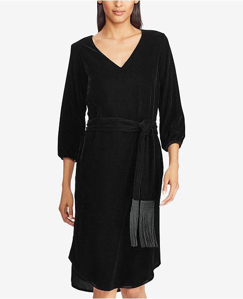 Lauren Ralph Lauren Velvet V-Neck Dress - Dresses - Women - Macy s c624b8867