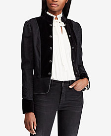 Lauren Ralph Lauren Twill Military Jacket