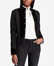 Lauren Ralph Lauren Twill Military Jacket