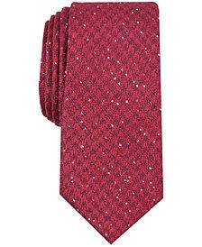 Bar III Men's Houndstooth Skinny Tie, Created for Macy's