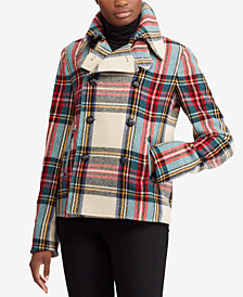 Lauren Ralph Lauren Plaid Peacoat