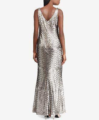 Lauren Ralph Lauren Sequin Evening Gown Dresses Women Macy S