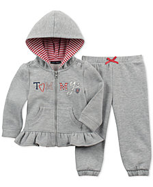Tommy Hilfiger Baby Girls 2-Pc. Zip-Up Hoodie & Pants Set