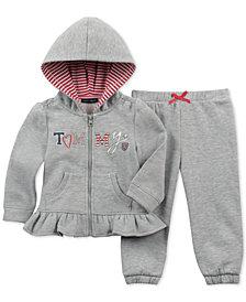 Tommy Hilfiger Baby Girls 2-Pc. Zip-Up Hoodie & Pants Set