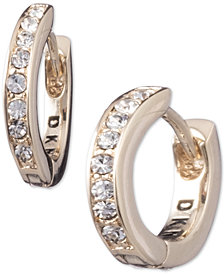 DKNY Pavé Huggie Hoop Earrings, Created for Macy's