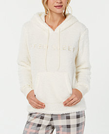 Jenni Fuzzy Fleece Hoodie Pajama Top, Created for Macy's