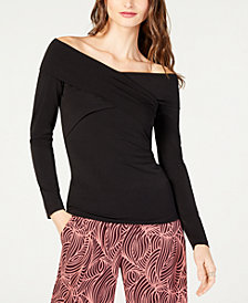MICHAEL Michael Kors Off-The Shoulder Crossover Top, in Regular and Petite Sizes