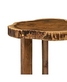 Berkshire Natural Live Edge Wood Round End Table
