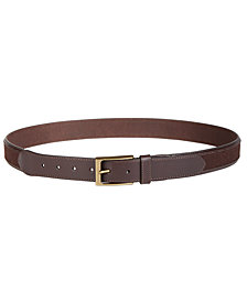 Tasso Elba Men's Leather Casual Belt, Created for Macy's