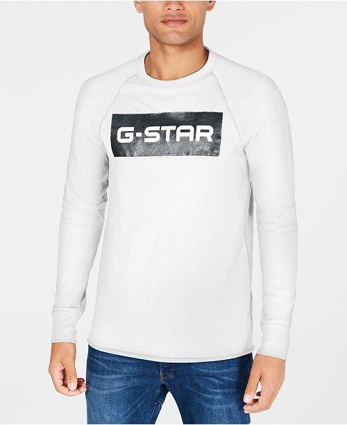 G-Star Raw Mens Block Logo Graphic T-Shirt, Created for Macy's
