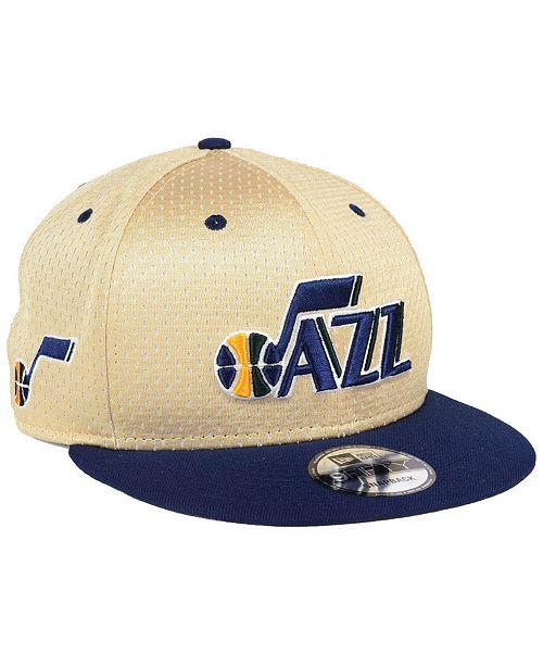 19540d014 New Era Utah Jazz Champagne 9FIFTY Snapback Cap & Reviews - Sports ...