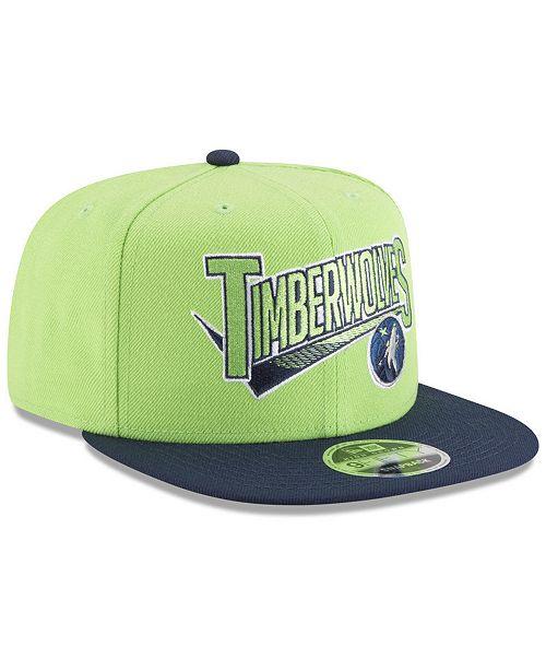 bccffd2810d6c6 ... New Era Minnesota Timberwolves Retro Tail 9FIFTY Snapback Cap ...