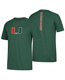 adidas Men's Miami Hurricanes Sideline Sequel T-Shirt