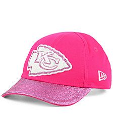 New Era Girls' Kansas City Chiefs Shimmer Shine Adjustable Strapback Cap
