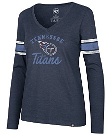 '47 Brand Women's Tennessee Titans Spirit Script Long Sleeve T-Shirt