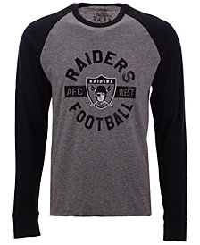 '47 Brand Men's Oakland Raiders Retro Encircled Long Sleeve Club Raglan T-Shirt