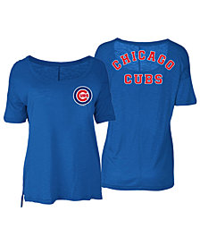 5th & Ocean Women's Chicago Cubs Relaxed Scoop T-Shirt