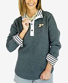 Gameday Couture Women's Purdue Boilermakers Snap Quilted Pullover