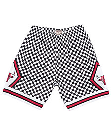 Mitchell & Ness Men's Chicago Bulls Checkerboard Swingman Shorts