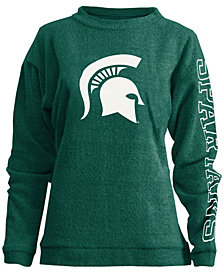 Pressbox Women's Michigan State Spartans Comfy Terry Sweatshirt