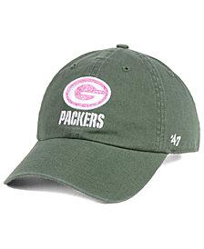 '47 Brand Women's Green Bay Packers Moss Glitta CLEAN UP Cap