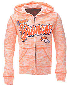 5th & Ocean Denver Broncos Space Dye Hoodie, Girls (4-16)