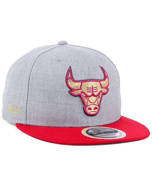purchase cheap 01c0f ec243 ... New Era Chicago Bulls Heather Metallic 9FIFTY Snapback Cap ...
