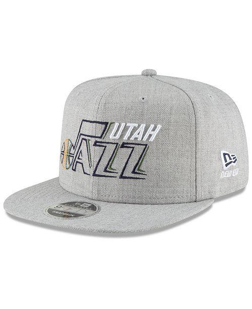 53b1d82b8 New Era Utah Jazz Logo Trace 9FIFTY Snapback Cap & Reviews - Sports ...