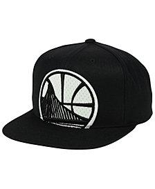 Mitchell & Ness Golden State Warriors XL Mesh Crop Snapback Cap