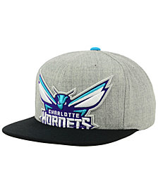 Mitchell & Ness Charlotte Hornets Cropped Heather Snapback Cap