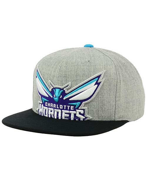 various colors 1459c 73297 ... greece mitchell ness. charlotte hornets cropped heather snapback cap.  be the first to write